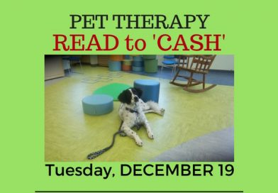 "Program – Pet Therapy Program- After school ""Read to Cash"""