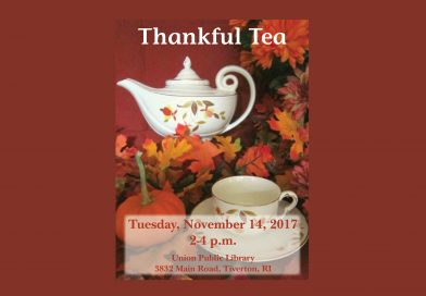 Thankful Tea at Union Library
