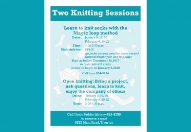 Two Knitting Sessions at Union Library